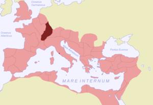 Germania Superior in 117 n.Chr.