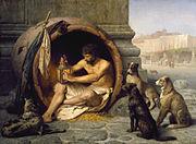 Le philosophe grec Diogène de Sinope représenté par Jean-Léon Gérôme (1860)