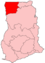 Location of Upper West Region in Ghana