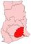 Location of Eastern Region in Ghana