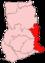 Location of Vola Region in Ghana