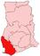 Location of Western Region in Ghana