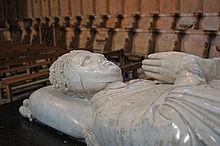 Gisant du pape Clément VI dans l'abbatiale de la Chaise-Dieu