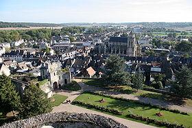 Vue de Gisors depuis la terrasse du château