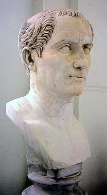 Buste van Julius Caesar in het Museo Archeologico Nazionale te Napels.