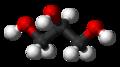 Glicerol, modelo de palos y bolitas
