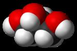 Glicerol, modelo espacial aproximado