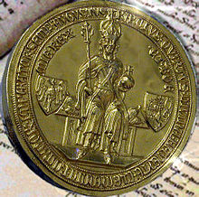 The golden seal that earned the decree the name