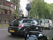 Voiture Google Street View à Paris