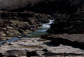 The Caney Fork in the Great Falls Gorge