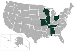 Great Midwest Conference locations