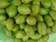 Photo of dozens of green fruits