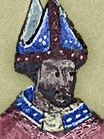 Robert Grosseteste em desenho do século XIV.