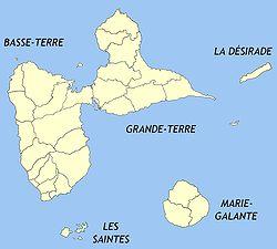 Découpage communal de l'archipel guadeloupéen