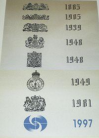 Les divers emblèmes du Hong Kong Observatory depuis sa création en 1883