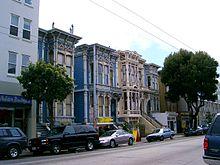 Haight-Ashbury, ancien quartier hippie de San Francisco (photographie)