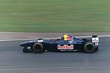 Photo de Heinz-Harald Frentzen conduisant une Sauber C14 au Grand Prix de Grande-Bretagne 1995.