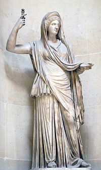 The Campana Hera, a Roman copy of a Hellenistic original, from the Louvre