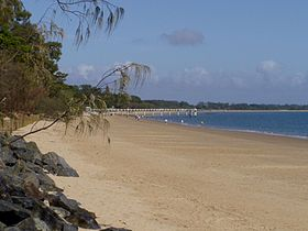 Une plage d'Hervey Bay