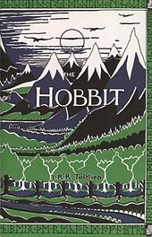 Cover has stylized drawings of mountain peaks with snow on the tops and trees at the bottom.