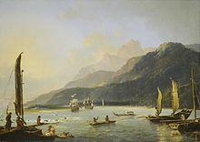 Baie de Matavai lors de la deuxième expédition Cook