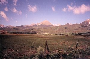 The Wet Mountain Valley of Custer County is nestled beneath the rugged Sangre de Cristo Mountains