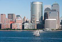 New York, depuis le fleuve Hudson