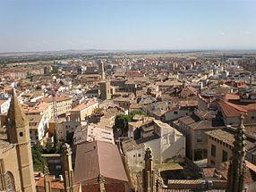 Huesca desde el aire.