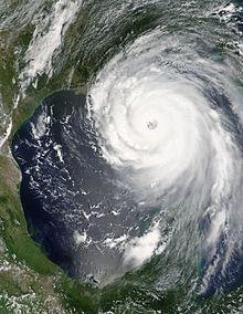 Image satellitaire de Katrina durant le 28 Août 2005 à 1h00 UTC (Source: NASA)