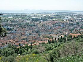 Vue panoramique d'Hyères