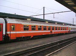 Voiture I10 de la SNCB en livrée C1 dite Eurofima.