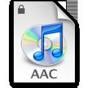 從Music Store受保護的AAC檔案。