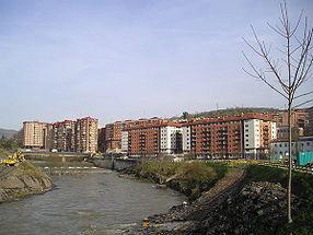 Rivière Ibaizabal au quartier Santa Isabel