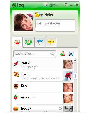 Lista de Contatos do ICQ 7.5