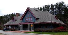Image-Adirondack Scenic Railroad - Saranac Lake Stn - Front.jpg