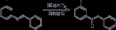 Hydrogenation of an imine using a Raney-Nickel catalyst.