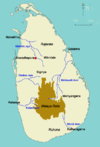 Area map of Malaya Rata, Sri Lanka