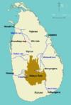 Area map of Malaya Rata, Sri Lanka