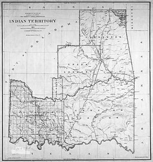 1891 government map of Indian Territory