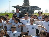 Niños estudiantes en Monterrey, Nuevo León.