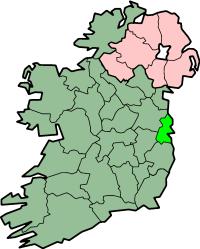 Localização do Condado de Dublin na Irlanda