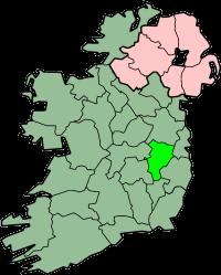 Localização do Condado de Kildare na Irlanda