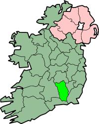 Localização do Condado de Kilkenny na Irlanda