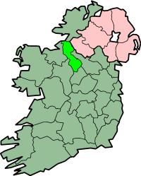 Localização do Condado de Leitrim na Irlanda