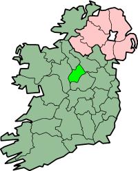Localização do Condado de Longford na Irlanda