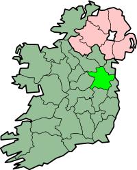 Localização do Condado de Meath na Irlanda