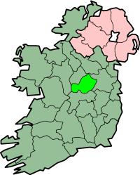 Localização do Condado Westmeath na Irlanda