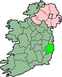 Localização do Condado Wicklow na Irlanda