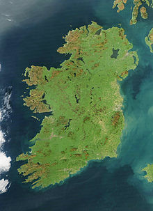 Photo satellite l'Irlande.