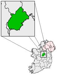 Condado de Longford destacado no mapa da Irlanda
